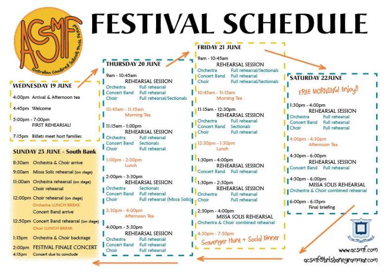 ACSMF Schedule